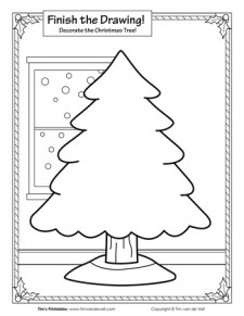 Finish the Drawing - The Christmas Tree