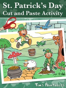 St. Patrick's Day Cut and Paste Activity PDF