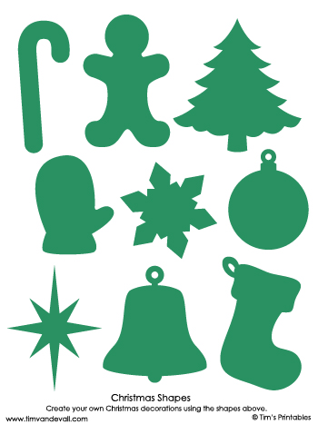 christmas shapes green