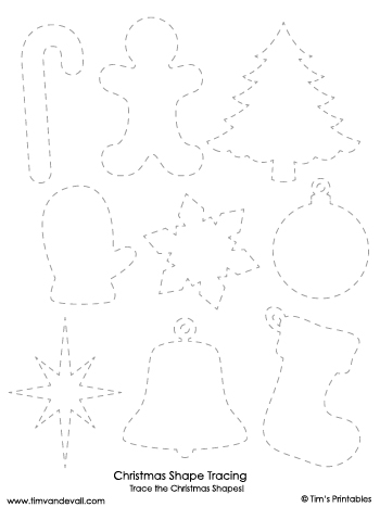 christmas shapes tracing