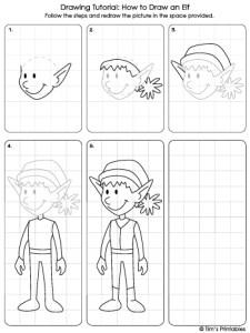 elf drawing tutorial