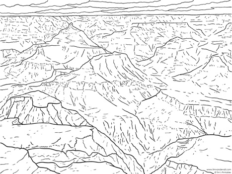 Grand Canyon coloring page