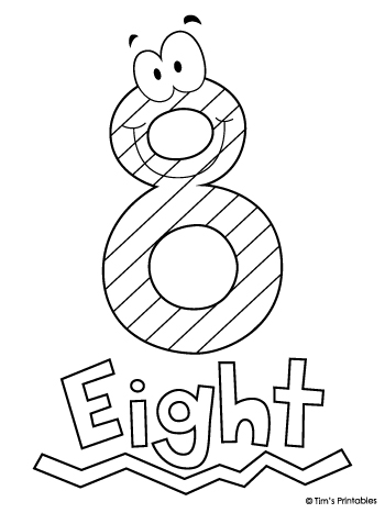 Number Eight Coloring Page