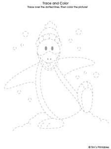 penguin tracing sheet