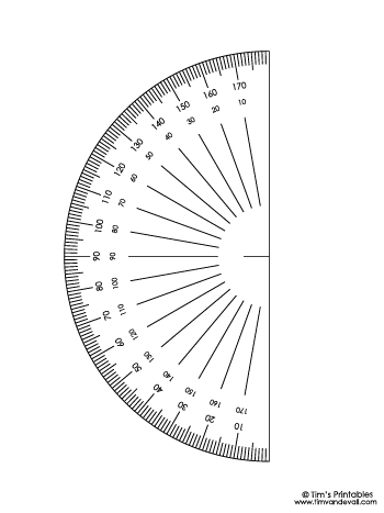 Protractor Template