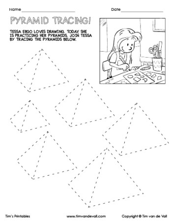 Pyramid Tracing Worksheet