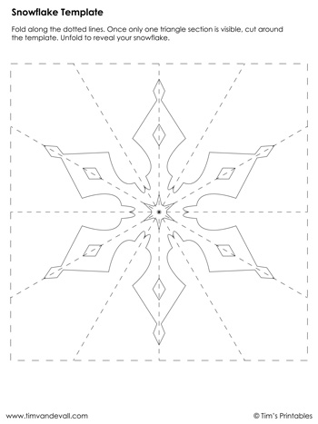 Snowflake Template #3
