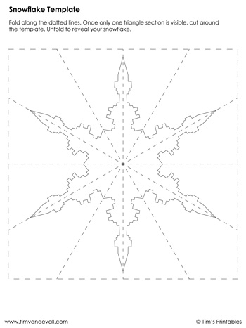 Snowflake Template #6