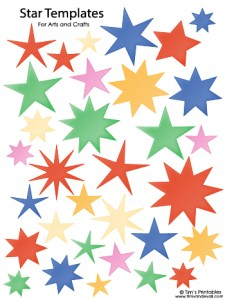 Star Templates - Various Colors