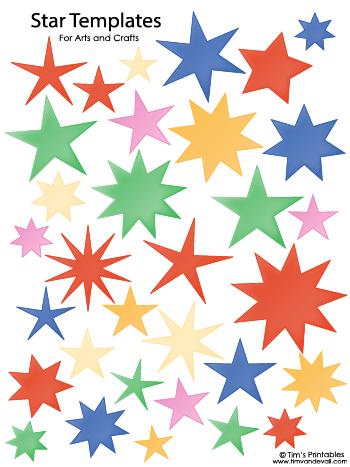 Star Templates - Various Colors