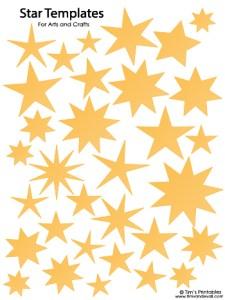 Star Templates - Yellow
