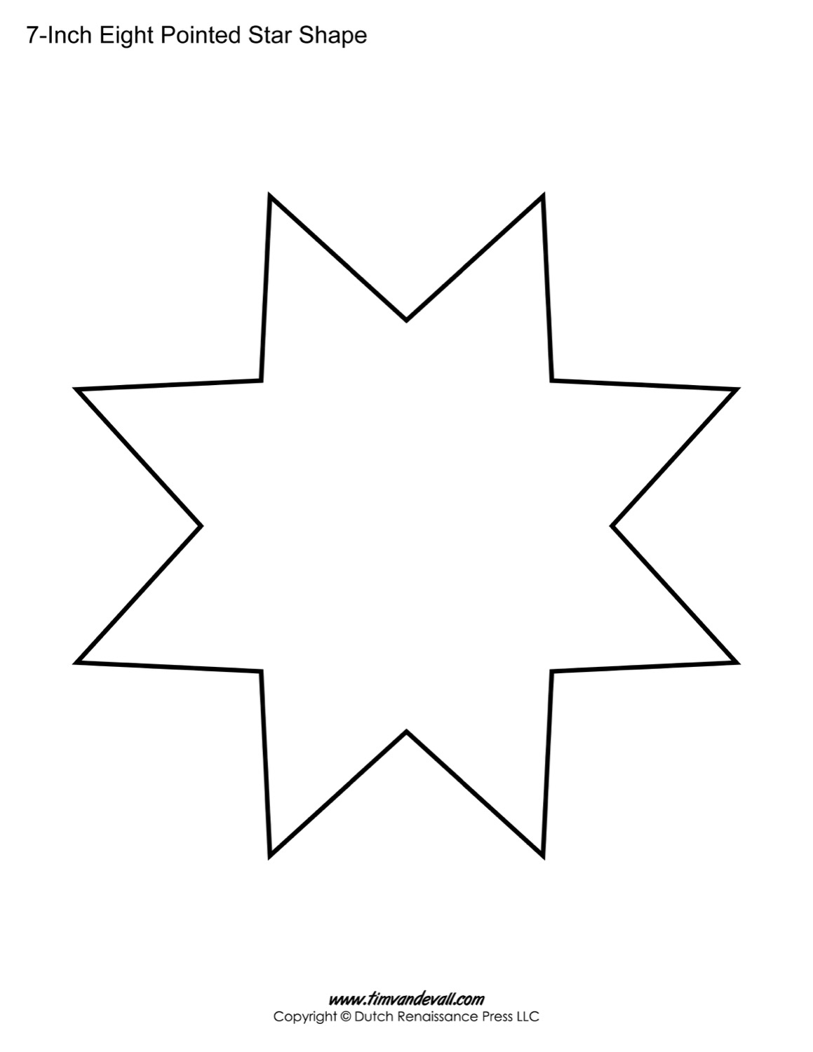 6 Pointed Star Template