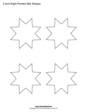 8 pointed stars