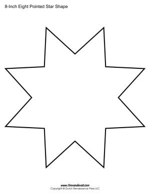 eight sided star shape