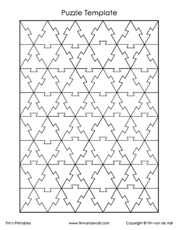 equilateral triangle puzzle template