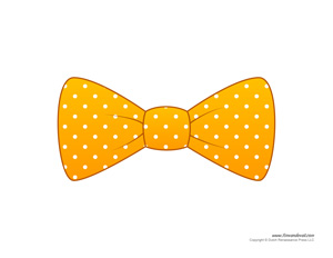 Gold Bow Tie Template