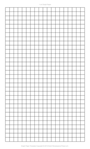 1 Centimeter Graph Paper Template, Legal PDF