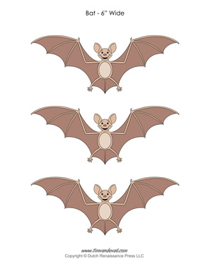 Halloween Bat Template