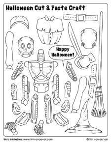halloween cut and paste activity