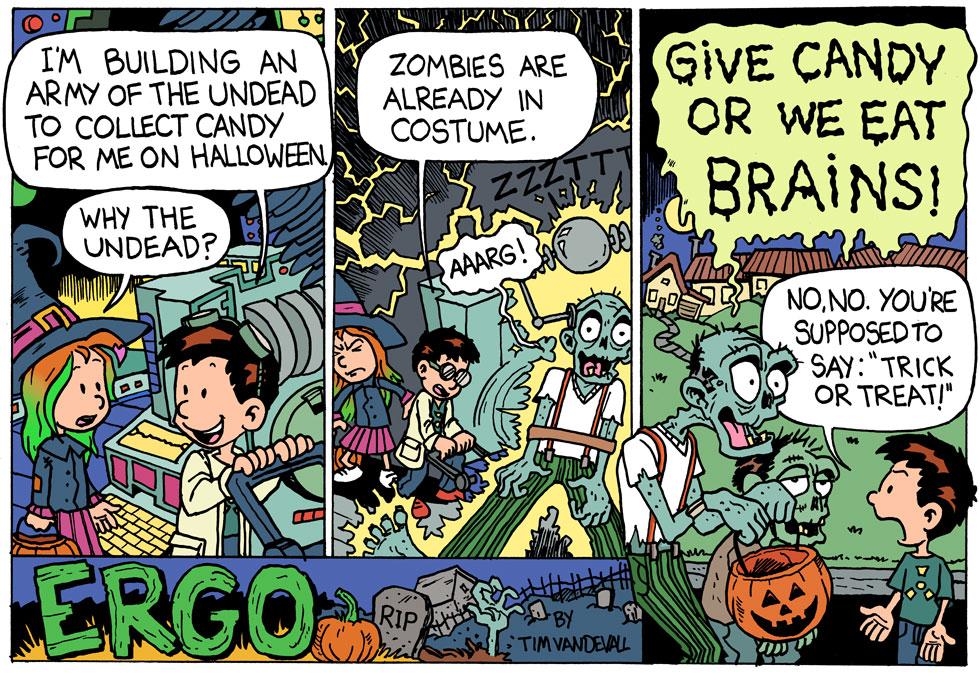 halloween comic stirp