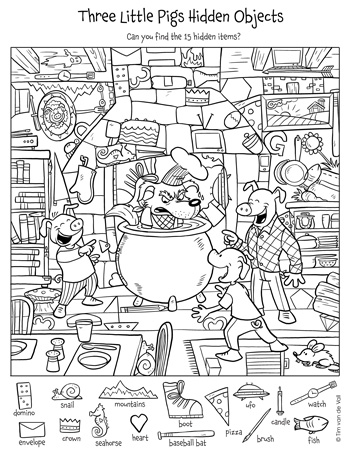 Free Printable Hidden Object Puzzles For Kids