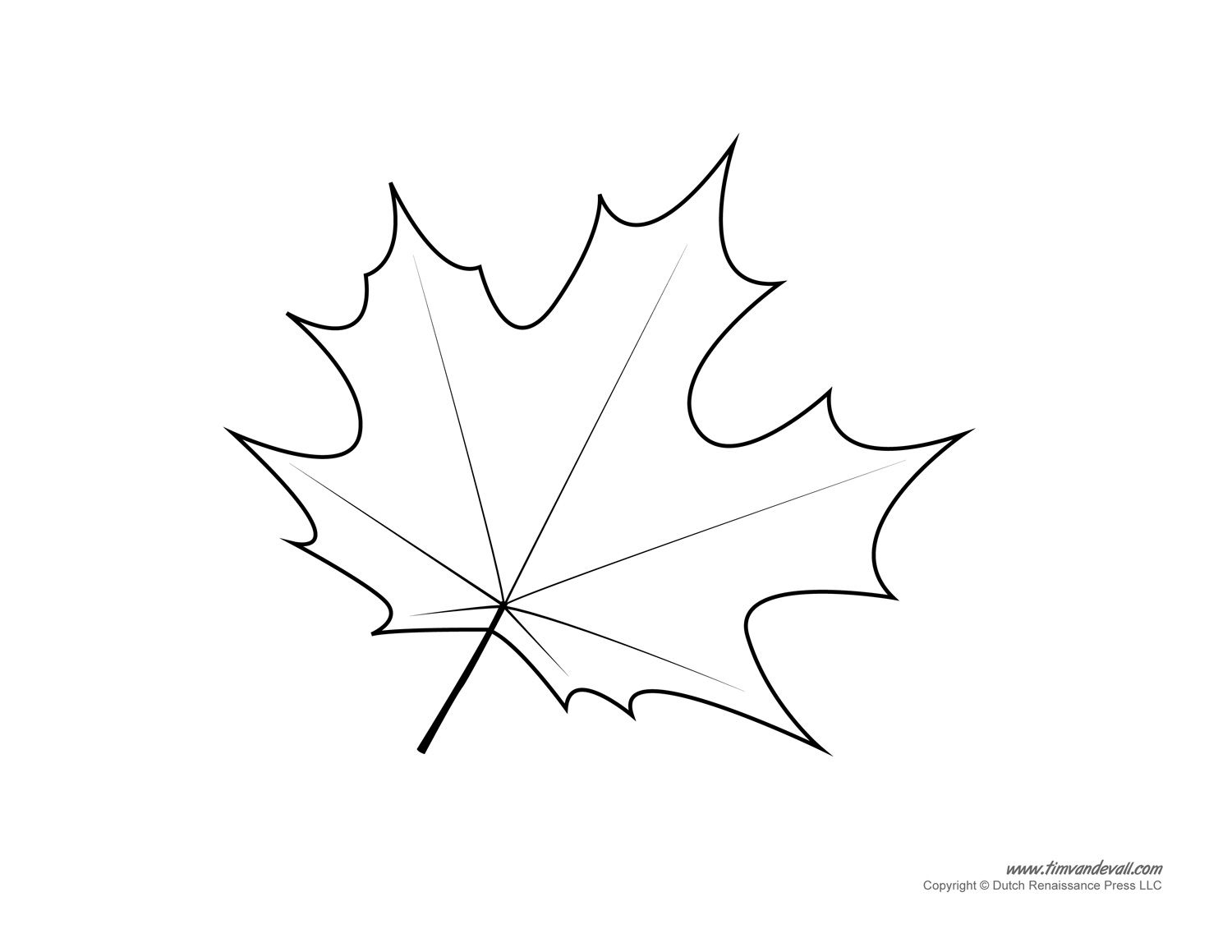 Maple Tree Leaf Coloring Page
