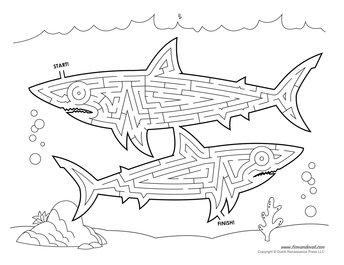 Shark Maze Activity
