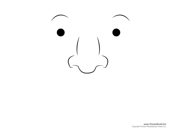 Mustache Printable Template