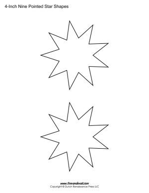 nine sided stars