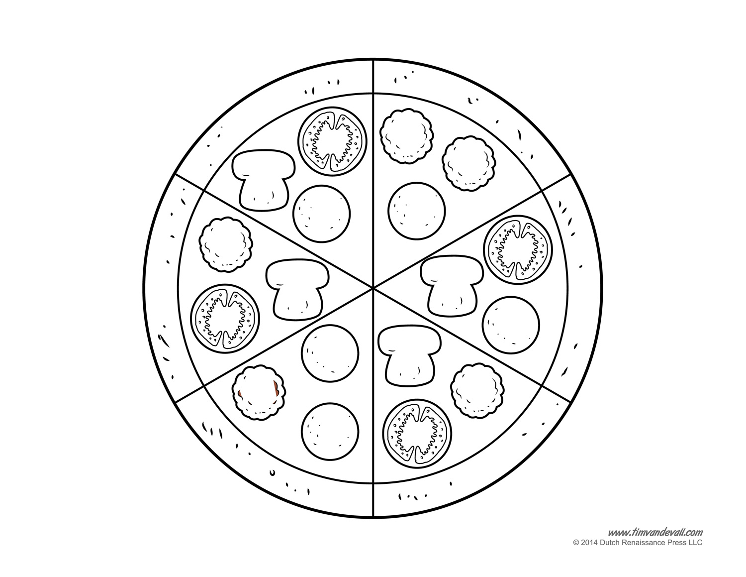 Pizza Template Blank
