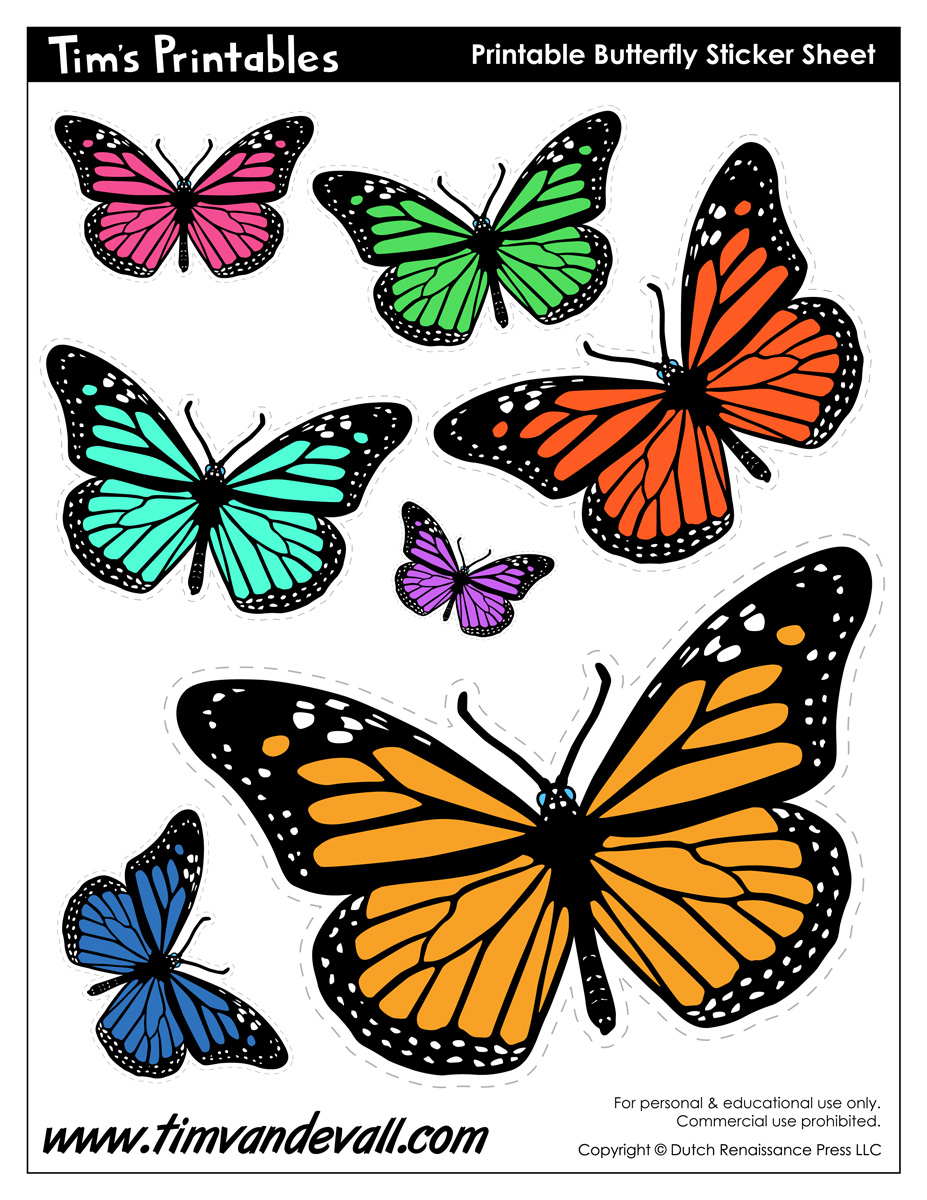 It is a photo of Epic Free Printable Butterflies