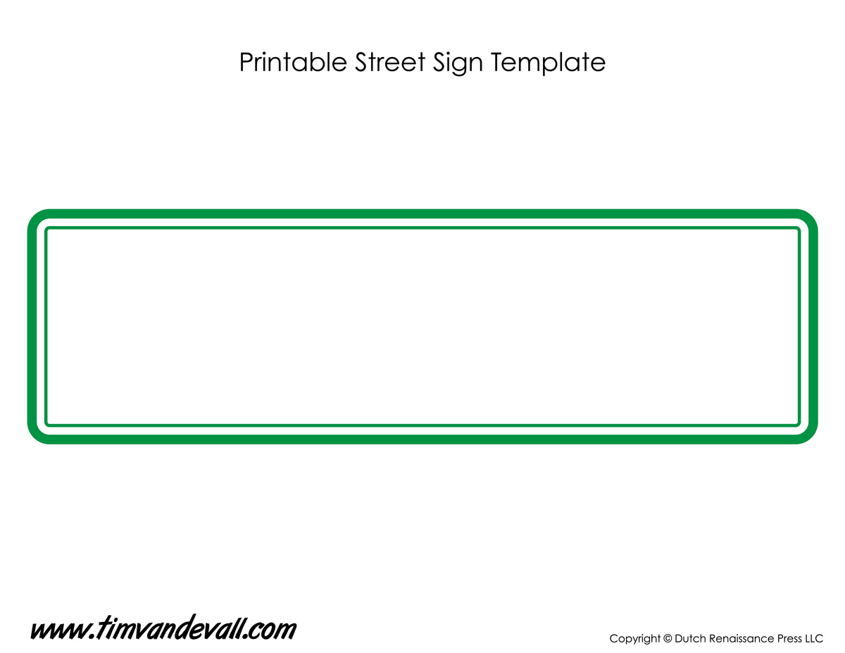 Street Sign Template