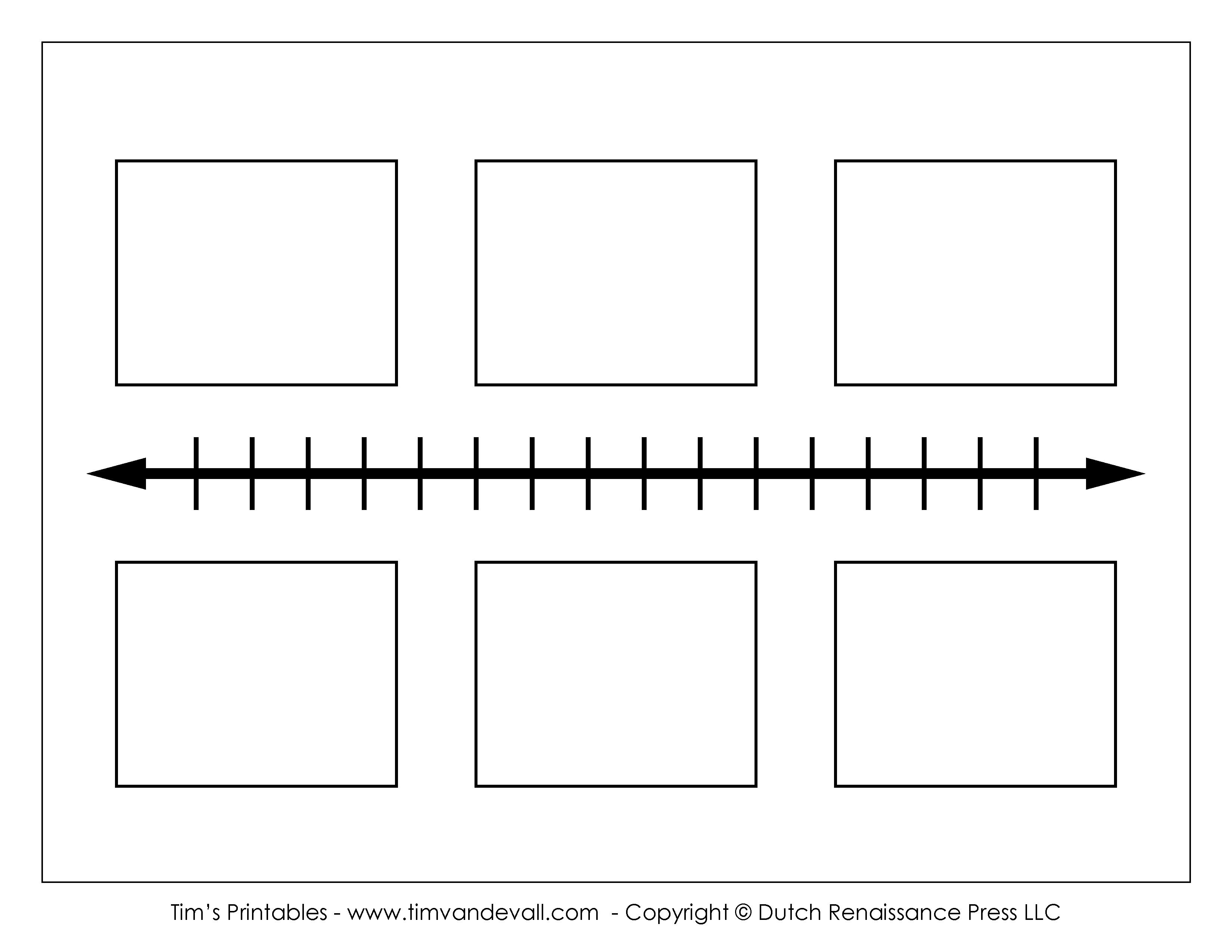 Printable Blank Timeline