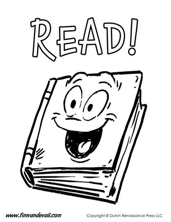 reading coloring page