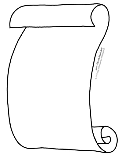 printable scroll template