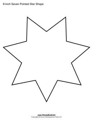 seven sided star shape