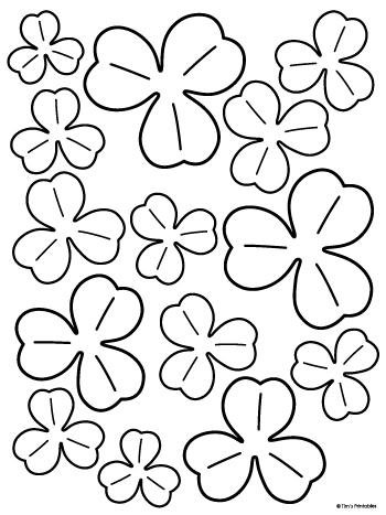 black and white shamrock templates