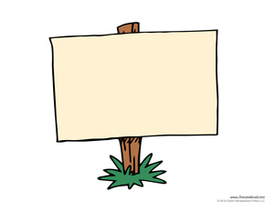 sign template