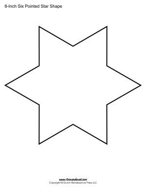 six sided star shape