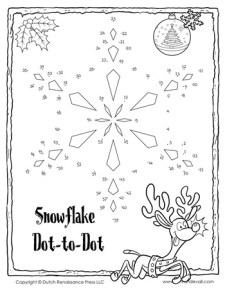 Snowflake Dot-to-Dot #2