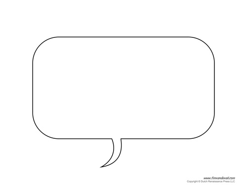 Speech Bubble Printable