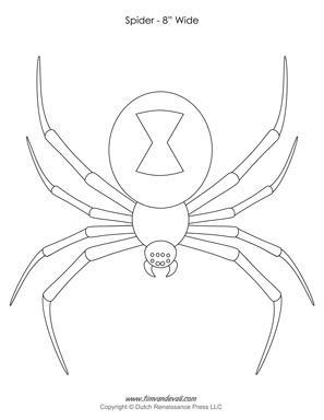 halloween spider templates decorations spider clip art