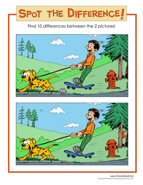 It is a graphic of Spot the Difference Pictures Printable intended for halloween