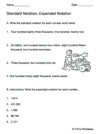 standard notation expanded notation worksheet
