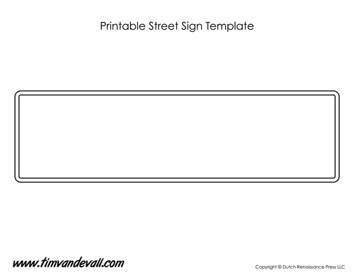 printable street sign template