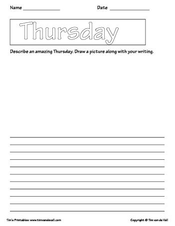 thursday template