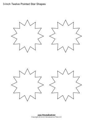 12 pointed stars