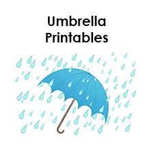 umbrella printables