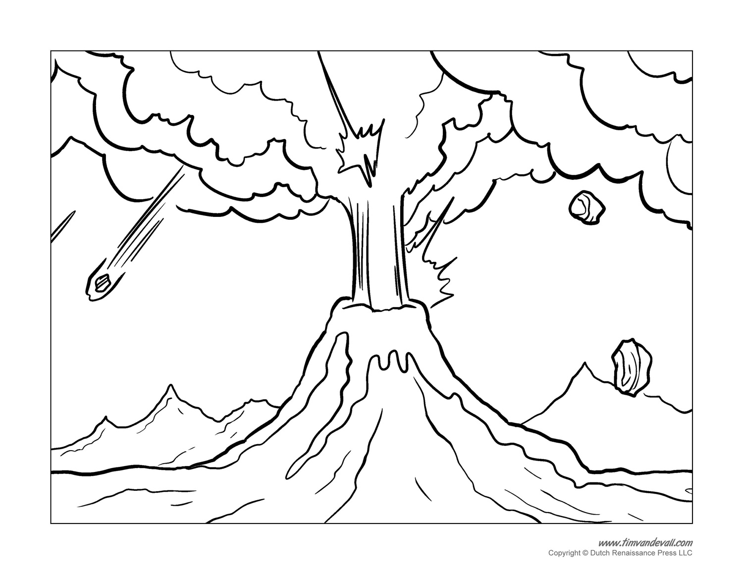 Teachers you also may print these volcano coloring pages for the classroom students are welcome to include these illustrations in any educational project