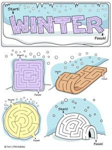Winter Mazes
